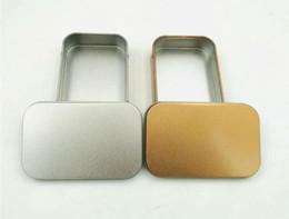 $enCountryForm.capitalKeyWord Australia - 200pcs Mini Tin Box Small Empty Gold Metal Storage Box Case Organizer For Money Coin Candy Keys U Disk Headphones