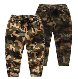 $enCountryForm.capitalKeyWord Australia - New Baby Pants For Boy Camouflage Baby Boys Jeans Pants Designer Spring Kids Jean Children's Elastic Waist Denim Long Pant Y19062401