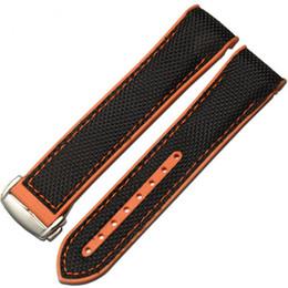 $enCountryForm.capitalKeyWord UK - Silicone Fabric Canvas Watch Strap For Omegaseamaster Omega Planet Ocean 8900 9900 Watch Band 22MM