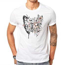 acbef88e Butterfly Shirts Designs Australia - 100% Cotton Summer Fashion Butterfly  Flowers Floral Design T Shirt