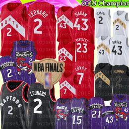 Großhandel NCAA Damian Herren Lillard Jersey University Kawhi 2 Leonard Basketball Jersey Vince 15 Carter 21 Camby Pascal 43 Siakam 23 VanVleet 7 Lowry
