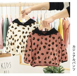leopard print clothes for baby girls Australia - Cute Autumn Hoodies Clothes Sets Fashion leopard print Long sleeve tops + Pants 2pcs Set for Baby Girls Outfits Clothes 1-5 Age