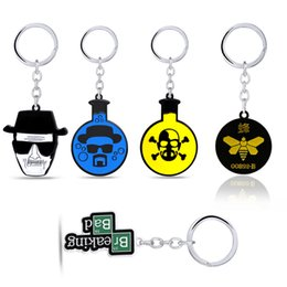 broken tvs Australia - TV Breaking Bad Keychain Walter White Metal Pendant Skull Keyring Bee Logo Key Chain Car Key Chains Chaveiro Gift For Men Women