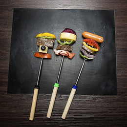 Barbecue Grilling Liner Portable Non-stick and Reusable 4 Colors Grill Mat BBQ Tools Red Grill Brush 9 Inch 12 Inch Food Clip DH0398 T03 on Sale