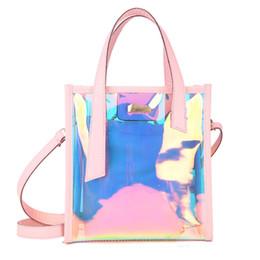 $enCountryForm.capitalKeyWord Australia - Holographic Laser Messenger Bags Jelly Rainbow Hologram Transparent Handbag for Women Composite Bag Ladies Shoulder Bag