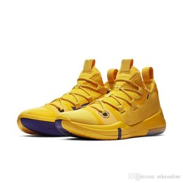 c6555c647668 Mens kobe ad 12 basketball shoes Team Red Yellow Black Gold White Pink low  cut youth kids kb xii elite sneakers boots with box size 7 12
