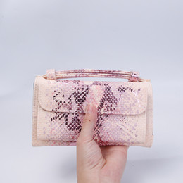 $enCountryForm.capitalKeyWord Australia - 2019 New Arrival Snake Shiny Leather Wallet Women Clutch Shoulder Bag with China Python Leathe Bag