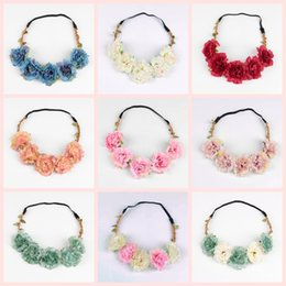 $enCountryForm.capitalKeyWord Australia - Travel Beach Leaves flower crown Colorful Wedding Garlands Bridesmaid Bridal Headband Bohemia Head Flower Girl Hair Accessory