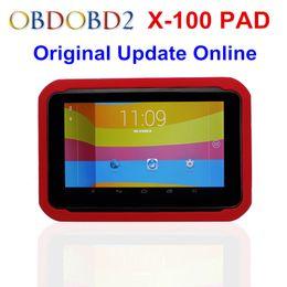 Oil Pads Australia - Newest XTOOL X100 PAD X 100 Auto Car Key Programmer With Oil Rest Tool And Odometer Adjustment X-100 PAD 100% Original DHL Free