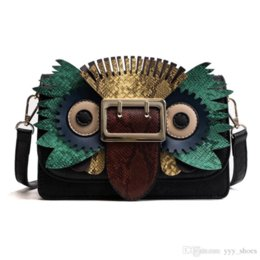 handbag mix color Australia - 0XHG 2019 new style Fashion designer women Owl Bags Shoulder Bag luxury Cross Body Flap handbags Clutch bag totes mixed color bags