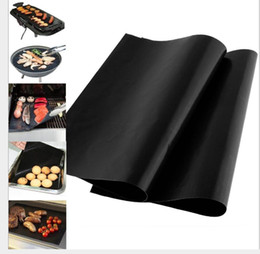 Wholesale Items Sold Australia - Traditional Black color Grill and Bake Mats Heat Conductive BBQ Kitchen Tool Popular selling the hot item