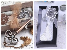 gift boxes for knives UK - (25 Pieces lot) Chrome wedding and event party favors of Key to My Heart Collection key design bottle opener for bridal showers