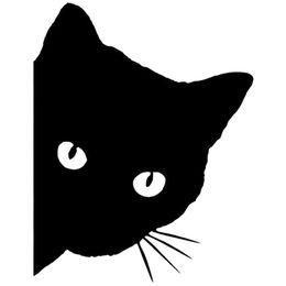 $enCountryForm.capitalKeyWord UK - wholesale 20pcs lot Cat Face With Whiskers Peeking Car Sticker For Truck Window Bumper SUV Door Vinyl Decal 13 Colors 15cm*12cm