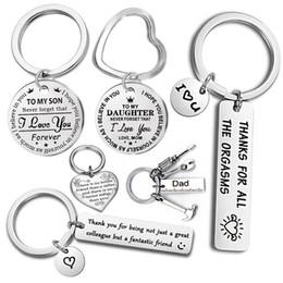 $enCountryForm.capitalKeyWord Australia - Fashion Keyring Drive Safe Name Stainless Steel Keychain Couples Key Rings Women Men Friend Family Key Chain Pendant Jewelry