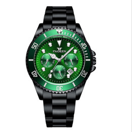 $enCountryForm.capitalKeyWord Australia - Black water ghost watch for men six needle three-eye men's watch new luminous large dial foreign trade men's watch