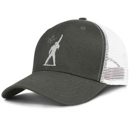 rock snapback NZ - Fashion Mesh Visor hats Men Women-Queen Rock Band Freddie Mercury designer caps snapback Adjustable Bucket hat Outdoor