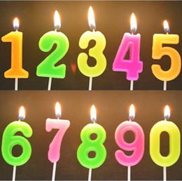 $enCountryForm.capitalKeyWord Australia - 50pcs Color Random 0-9 Number Colorful Candle with Base Festival Kids Birthday Party Cake Decor Ice Cream Cupcake Digital Candle