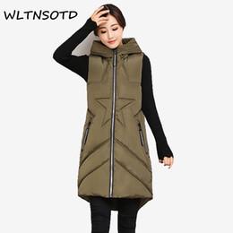 $enCountryForm.capitalKeyWord Australia - 2017 new winter cotton vest women long Slim Hooded Solid star star pattern jacket Female fashion zipper pocket vests