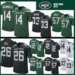 4bf6d1d4bf6 Carson wentz jerseys online shopping - 14 Sam Darnold Le Veon Bell Jets  Football Jersey Mens