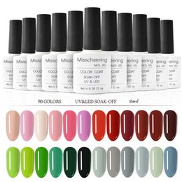 $enCountryForm.capitalKeyWord NZ - Soak Off Base Gel Top Coat Matte Top Gel Polish Nail Lacquer 8 Ml Manicure Wholesale Long Lasting Nail Color