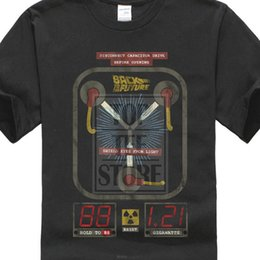 Flux blue online shopping - Back To The Future T Shirt Mens New Flux In Black Cotton In Sizes Sm xl Summer O Neck Tops