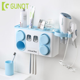 $enCountryForm.capitalKeyWord Australia - Wall Mounted Toothbrush Holder Automatic Toothpaste Dispenser Bathroom Toothbrush Storage Box Bathroom Accories Sets