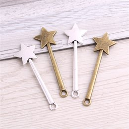 Color Charms Australia - SWEET BELL 200pcs Fahion two color Metal Zinc Alloy Shooting Star Pendant Charms Fit Vintage Jewelry Charms Making D6406