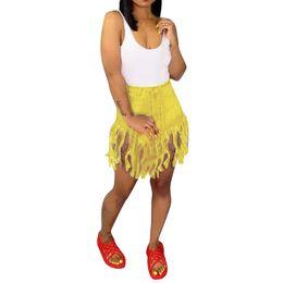 $enCountryForm.capitalKeyWord UK - Hot Ladies Shorts Women Summer Short Jeans Denim Tassel High Waist Short Pants Sexy Ripped Booty Shorts Workout Spodenki Damskie