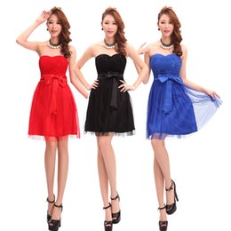 $enCountryForm.capitalKeyWord Australia - Sexy tube top bridesmaid sisters small dress short section slim mesh tutu banquet cocktail party nightclub evening dress