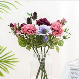 $enCountryForm.capitalKeyWord Australia - New Real Touch Roses Branch Artificial Flowers Home Table Decor Wedding Decoration Flores Fake Flower Fleur Rose Artificielle