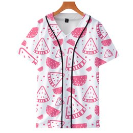$enCountryForm.capitalKeyWord Australia - Drop Shopping 2019 Fashion fruit costume Strawberry 3D Print Short sleeve baseball uniform Men Women Casual jacket Clothes