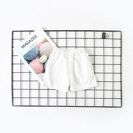 $enCountryForm.capitalKeyWord NZ - New Princess Bamboo Cotton Baby Girls Shorts Summer Spring 2019 Children White Shorts Kids Shorts for Girls Toddler Girl Clothes