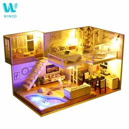 Quality In Hot Diy Box Theatre Birthday/valentine/christmas Gift Miniature Furnitures Model Kits 3d Assemble Toys Creative Diary Dollhouse Superior