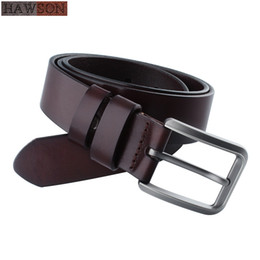black leather cowboy belts Australia - Brown Black Belt men Prom Dress Accessories Cowboy Genuine Leather Belts Pin Buckle mens Adjustable Belts