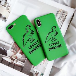 $enCountryForm.capitalKeyWord Australia - 3D Kawaii Super Cute Little Green Dinosaur Case for Apple Iphone X XS MAX XR 8 7 6 6s Plus Cartoon Korea Hard Phone Shell Cases Cover