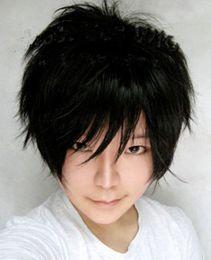 $enCountryForm.capitalKeyWord NZ - Handsome Men Short Black Straight Boys Orihara Izaya Anime Kanekalon Heat Resistant Cosplay Party Hair Full Wig Wigs