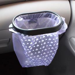 Car garbage bags online shopping - Car Interior Organized Garbage Bag Holder Rack Trash Garbage Bin Hanger Storage Waste Organizer Bag Bucket Accessories GA