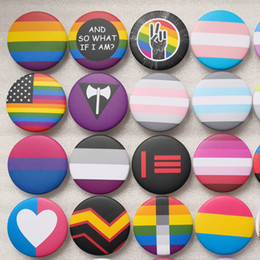 Day flags online shopping - LGBT Design Rainbow Pins Bisexual Brooch Creative Heart Finger Flag Rainbow Metal Pin Gay Lesbian Pride Badge Jewelry Gift