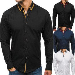 Hot Shirts Man NZ - Patchwork Style Casual Shirt Men 2019 Hot Sale Male Slim Blouse Business Man Long Sleeve Shirts Fashion Streetwear Clothes Loose