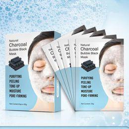 $enCountryForm.capitalKeyWord Australia - 3box Natural Detox Oxygen Charcoal Bubble Black Sheet Mask Oil Control Face Mask Blackhead Removal Facial Mask Korean Skin Care