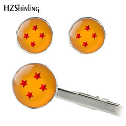 $enCountryForm.capitalKeyWord Australia - 2019 New Dragon Ball z Clips & Cufflinks Dragon Ball Stars Cuff Silver Glass Tie Clip Handmade Gifts For Friends CT-0026