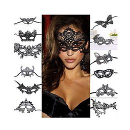 Women Sexy Black Halloween Costumes NZ - Black Women Sexy Lace Eye Mask Party Masks for Masquerade Halloween Venetian Costumes Carnival Mask Upper Half Face Birtyday Masks