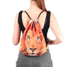 Cloth Bouquet Australia - Sleeper #501 2018 Cloth Bag Drawstring Women's Bag 3D Digital Print Bouquet Pocket annimal parttern light weight Free Shipping