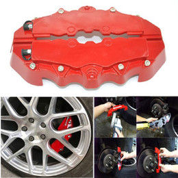 Wholesale 2PCS Fit For Car Wheel Brake Caliper Cover Front Rear Dust Resist