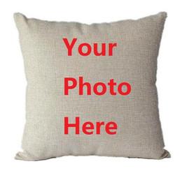 $enCountryForm.capitalKeyWord Australia - Personalised Cushion Cover Cotton Linen Custom Printed Pillow Case Home Decoration For Car Sofa Waist Pillowcase DIY