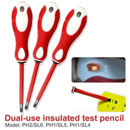 TesT screwdriver online shopping - 2 In Dual Head Electrical Tester Pen V Screwdriver Power Detector Probe Industry Voltage Test Pen with signal light