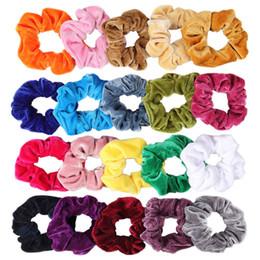 Paquet de 20 cheveux chouchous velours élastiques cravates cheveux chics cravates cordes chouchou pour femmes ou filles en Solde