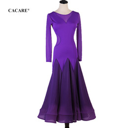 ballroom standard dance dresses Australia - Customize Standard Dance Dresses Ballroom Dance Competition Dresses Tango Waltz Dress Flamenco D0634 Big Ruffled Hem Mesh Sleeve