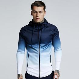 $enCountryForm.capitalKeyWord Australia - spring men jacket fashion gradient color thin hooded sweatshirt mens slim zipper Cardigan brand outerwear hoodies streetwear Top