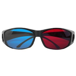AnAglyph 3d online shopping - Universal Type D Glasses TV Movie Dimensional Anaglyph Video Frame D Vision Glasses DVD Game Glass Red And Blue Color